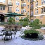 Post Addison Circle Apartments Courtyard