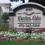 Garden Oaks Apartment Sign